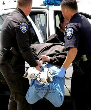 Petaluma police officers John Antonio, left, and Eduardo Esponda